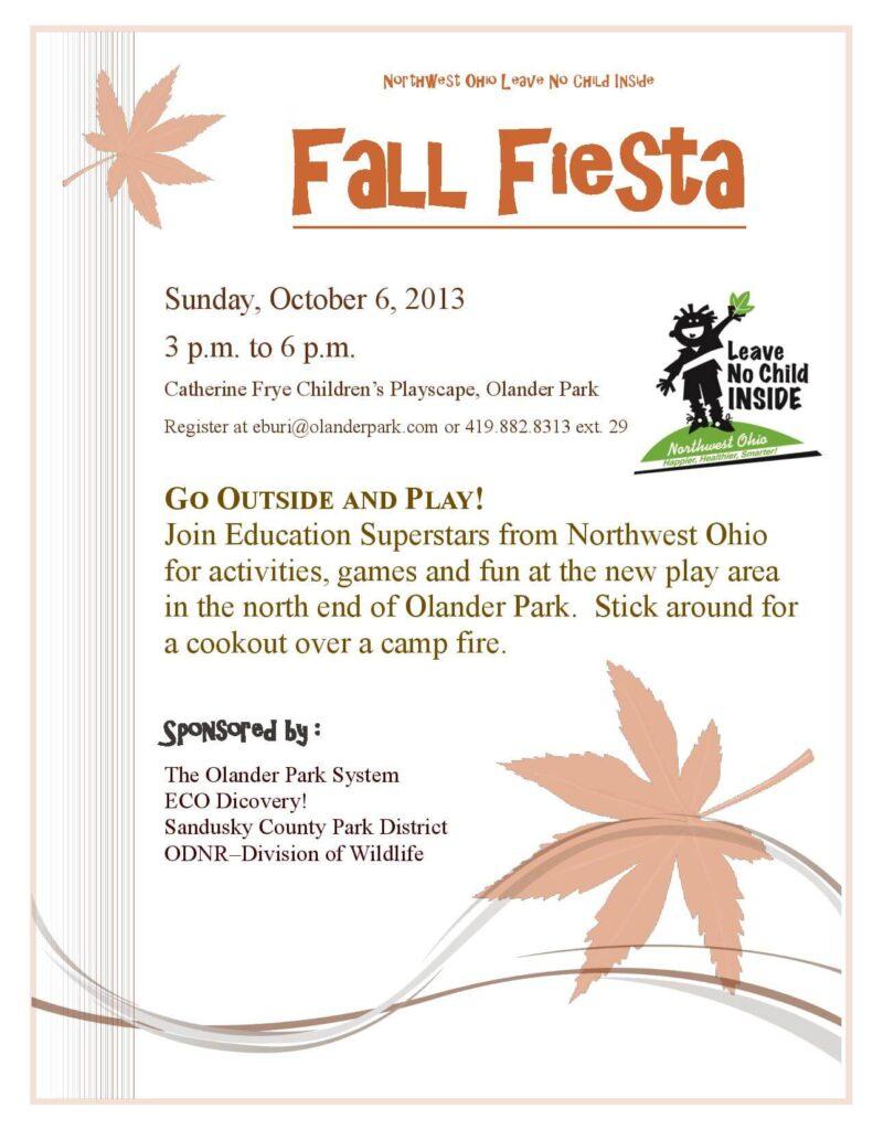 Fall Fiesta Flyer 2013